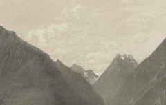 Vallée d'Argelez – Vue prise près du Château de Baucens [Beaucens] - Petit, Victor – s. d. - lithographie - Médiathèque André Labarrère Pau – cote C5625R