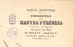 Carte routière et hydrographique des Hautes-Pyrénées, Canton d'Argelès – Muller – 1876 – carte - Médiathèque André Labarrère Pau – cote 220116