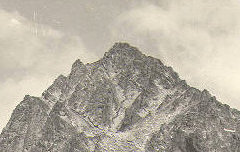 Vue du Balaïtous (3146 m.) - Grataloup, Antoine - Don de M. Laurent Duchemin – 1936 – photographie – Centre d'étude du Protestantisme Béarnais – cote 60 J 239/4