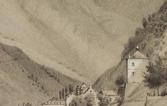 Thermes de Barèges en regardant le Tourmalet - Paris, Edouard / Thierry Frères – s. d. - lithographie - Médiathèque André Labarrère Pau – cote 240430