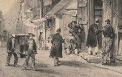 Hautes Pyrénées : Les Baraques à Barèges - JACOTTET, Louis-Julien / Bayot, Adolphe-Jean-Baptiste – lithographie - Médiathèque André Labarrère Pau – cote C39621