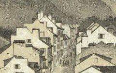 Hautes Pyrénées : Vallée de Barèges - Vue Générale de Barèges – Gorse, Pierre / Ep. Monguillet – lithographie - Médiathèque André Labarrère Pau – cote Ee3204