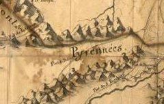 Carte des Pyrénées depuis la frontière du Pays de Cize jusqu'à celle de Canfranc – 1712 – carte - Archives départementales 64 – cote FRAD064009-1FI20
