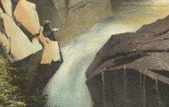 Les Pyrénées Monumentales et Pittoresques : Cascade du Cerise - Près Cauterets - GORSE, Pierre / Becquet / Librairie spéciale Pyrénéenne - 19e siècle – lithographie - Médiathèque André Labarrère Pau – cote Ee3213_1