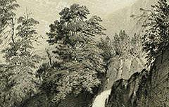 Eaux-Bonnes : Cascade du gros hêtre - PETIT, Victor (dessinateur lithographe) / BASSY, Auguste (Pau) / Thierry frères  (Paris) – 19e siècle – estampe - Musée des Beaux-Arts Pau – cote 30.6.5-24 (19)