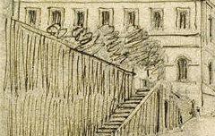 Etablissement et chapelle des Eaux-Bonnes - LE COEUR, Charles Clément (dessinateur) – s. d. - dessin à la mine de plomb, plume et encre brune - Musée des Beaux-Arts Pau – cote 2007.0.56
