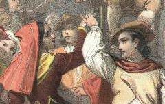 Basses Pyrénées : Branle d'Ossau - Danse aux Eaux-Bonnes - Dartiguenave, Alfred / Auguste Bassy / Lemercier - 19e siècle - lithographie - Médiathèque André Labarrère Pau – cote Ee3209-1