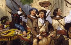 Souvenir des Eaux-Chaudes : Retour d'une chasse à l'izard - DEVERIA, Eugène / Auguste Bassy (Pau) – 19e siècle – peinture - Musée des Beaux-Arts Pau – cote 55.9.1(2)