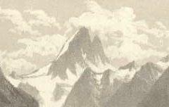 Les Pyrénées : Les Eaux-Chaudes et la Vallée de Gabas - Vue prise au-dessus de la route - PETIT, Victor / Dulon / Monrocq - 19e siècle – lithographie - Médiathèque André Labarrère Pau – cote C5625R