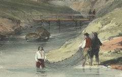 Eaux-Chaudes : Basses Pyrénées - OLIVER, William / Bourne, J. C. / C. Hullmandel - 19e siècle – lithographie - Médiathèque André Labarrère Pau – cote Ee3221