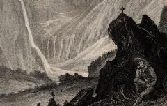 Dép. des hautes Pyrénées : La Grande Cascade de Gavarnie - Denfer / Villain - s. d. - Médiathèque André Labarrère Pau, cote 240438