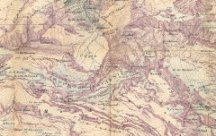 Massif de Gavarnie et du Mont-Perdu. Echelle 1 / 20.000 e. - Schrader, Franz / E. Andriveau-Goujon / Henry Barrère / Erhard Frères – 1914 – carte - Médiathèque André Labarrère Pau - cote 220249