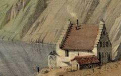 Lac Lhou dit Lac Bleu (près Bagnères Bigorre) - PARIS, Edouard / Thierry Frères – 19e siècle – lithographie - Médiathèque André Labarrère Pau – cote 240449