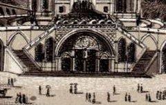 Souvenir de Lourdes : Eglise du Rosaire – s. d. - lithographie - Médiathèque André Labarrère Pau – cote 240412