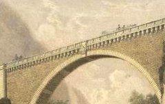 La France de nos jours : St Sauveur - Hautes-Pyrénées - Le pont Napoléon - MERCEREAU, Charles / F. Sinnett / Frick frères - 19e siècle - lithographie - Médiathèque André Labarrère Pau – cote Ee3208