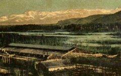 Pau : Le Pic du Midi de Bigorre (2877 m) - Observatoire - Vue prise de la Place Royale - Eug. Pacault – 1909 – carte postale - Médiathèque André Labarrère Pau – cote 1-092-3