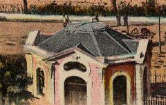 Les Basses-Pyrénées : Pau - La gare du midi et le pic du Midi d'Ossau - Labouche Frères (éd. Toulouse) - carte postale - Médiathèque André Labarrère Pau – cote C2-19