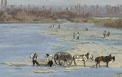 Le gave de Pau et le pic du Midi de Bigorre - Victor Galos - 3e quart du 19e siècle - peinture - Musée des beaux Arts de Pau - cote 876.8.18