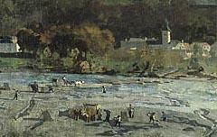 Gelos et la chaine des Pyrénées - Victor Galos - 2e moitié du 19e siècle - peinture - Musée des Beaux Art de Pau - cote 95.4.1.