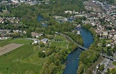 Vue aérienne sur le Gave de Pau - Marc Heller (photographe, CDAPP) - 2012