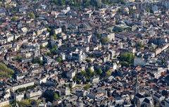 Vue aérienne sur la ville de Pau, Jurançon et le Gave - Marc Heller (photographe, CDAPP) - 2012