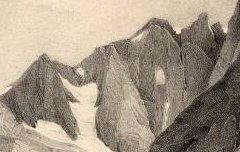 Le Vignemale vu du Lac de Gaube - Le Prince de la Moskowa / Sorrieu, F. / Formentin – s. d. - lithographie - Médiathèque André Labarrère Pau – cote 240-436